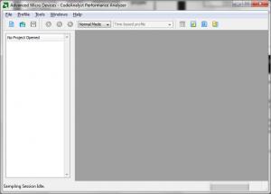 CodeAnalyst - Okno główne programu