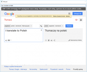 Example of translation from English to Polish